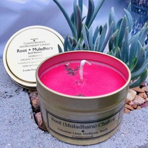 Root chakra soy candle red